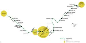Charlotte Streetcar Map
