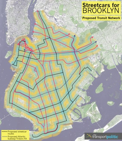 Proposed Brooklyn Transit Network