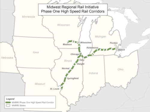 Midwest High Speed Rail Network Map