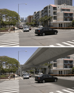 Elevated Rail Guideway in Honolulu