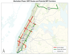 Manhattan BRT Routes