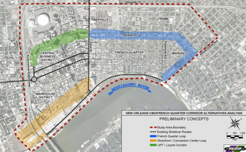 Streetcar In New Orleans Map.New Orleans Rekindles Hopes For A Desire Streetcar The Transport