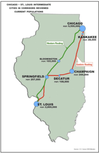 Chicago-St. Louis High Speed Rail Map