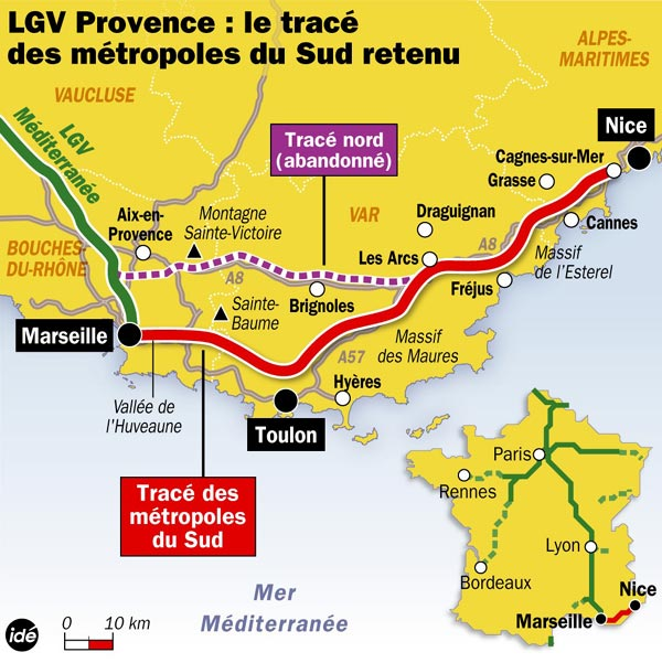 france approves route for marseille nice tgv the transport politic. Black Bedroom Furniture Sets. Home Design Ideas