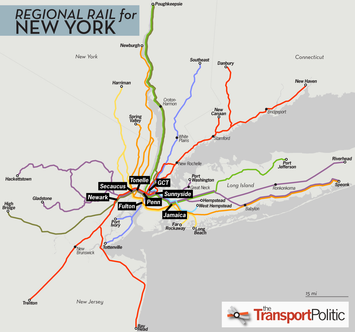 Map Of New York Rail System.Regional Rail For New York City Part Ii The Transport Politic