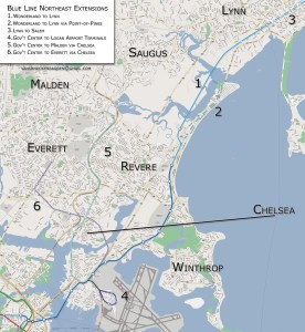 MBTA Blue Line Extension Map