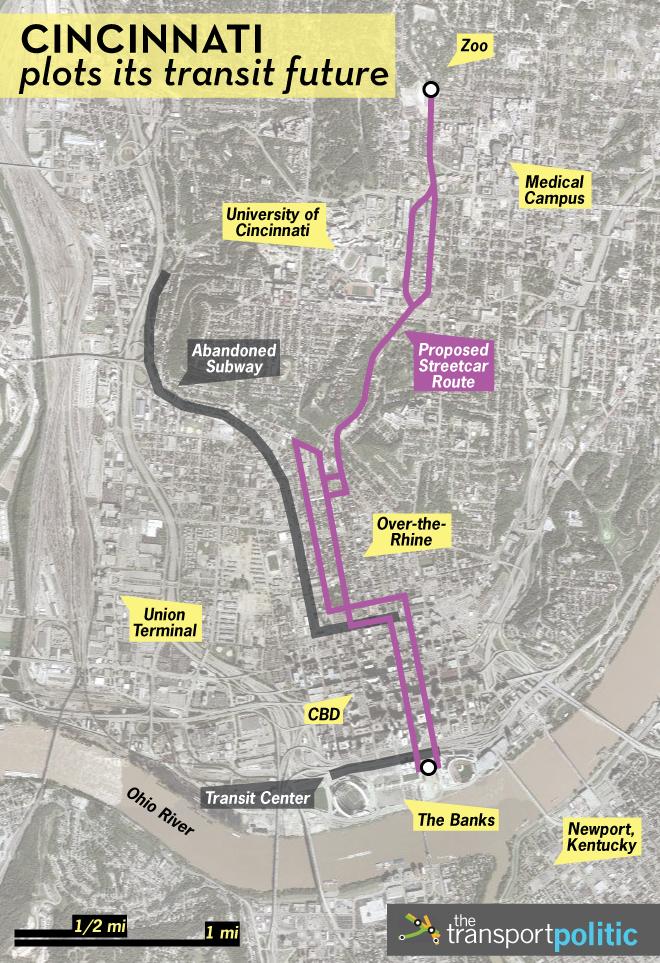 Cincinnati Subway Map.Cincinnati S Riverfront Transit Center Attracts Criticism The