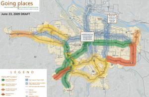 Portland Future Light Rail Corridors