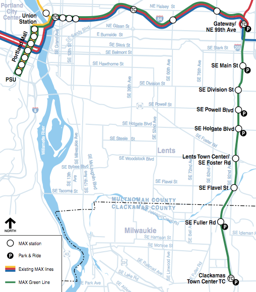 Max Line Map Portland's New Light Rail Line is Welcome News, But It's Not