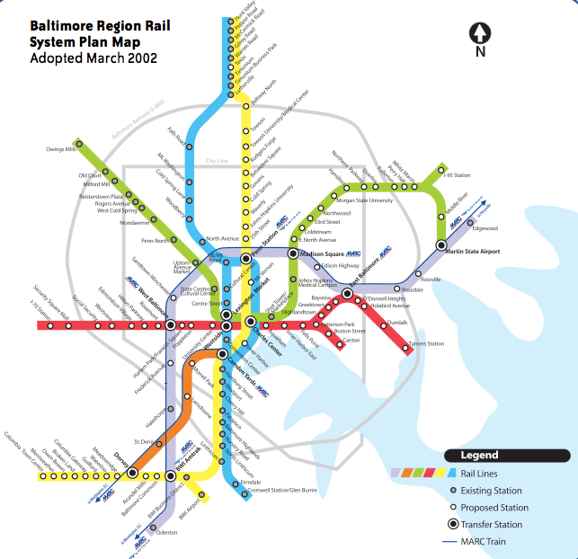maryland light rail map Baltimore To Advance Yellow Line Project Ahead Of Metro Extension maryland light rail map