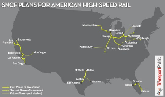 SNCF Plans for American High-Speed Rail