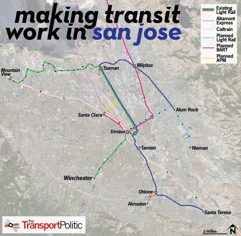 Delightful San Jose Plots A Renewal Of Its Struggling Light Rail Network « The  Transport Politic Images