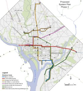 DC Streetcar Plan Map