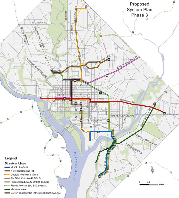 Dc Streetcar Map on