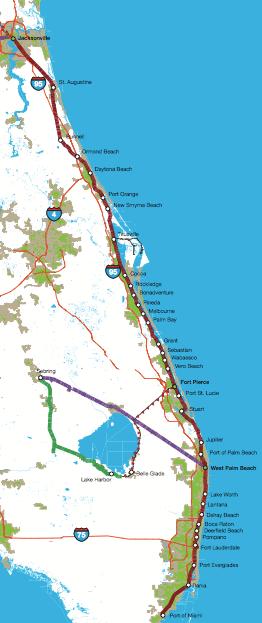 Map Of East Coast Of Florida.Map East Coast Florida S