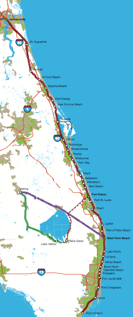 Florida East Coast Railway Studied for Potential Intercity ...