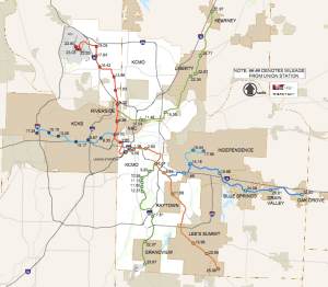 Kansas City Commuter Rail Proposal Map