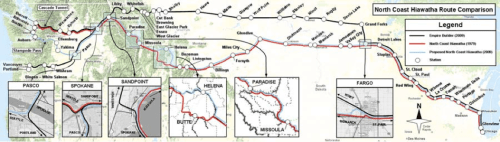 North Coast Hiawatha Route Map