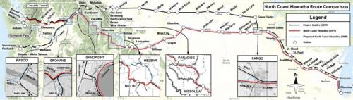 North Coast Hiawatha Route Map
