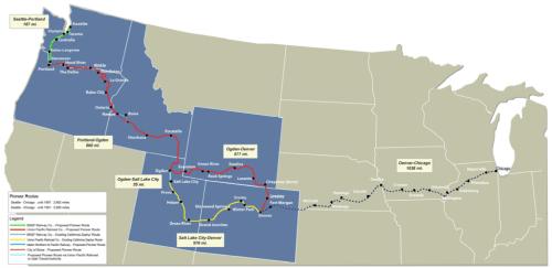 Pioneer Corridor Options Map