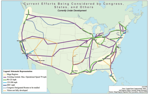 US Rail Plans Map