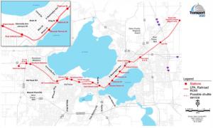 Madison Commuter Rail Alternative Map