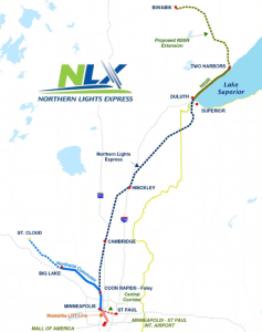 Northern Lights Express Route Map