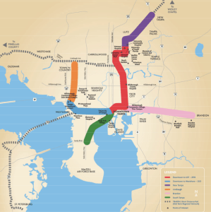 Recommended Tampa Bay Area Light Rail System