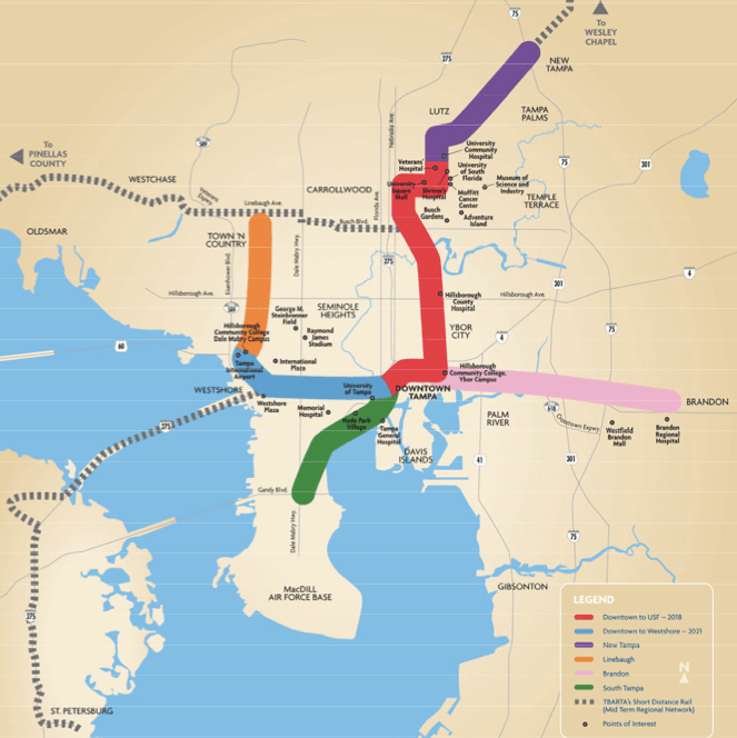 Recommended Tampa Bay Area Light Rail System. » Sales Tax Would Have To Be  Approved By Voters Next Year. Design