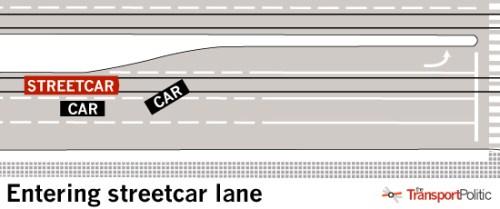 Entering Streetcar Lane
