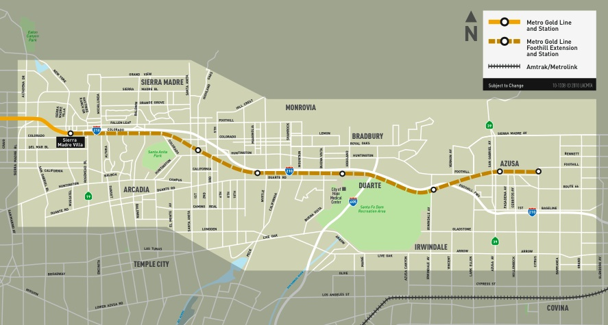 Los Angeles' Gold Line Foothill Extension Approved for Funding, Will
