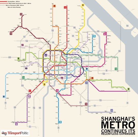 Used Bugs To Map Tokyo Subway Map.Shanghai S Metro Now World S Longest Continues To Grow Quickly As