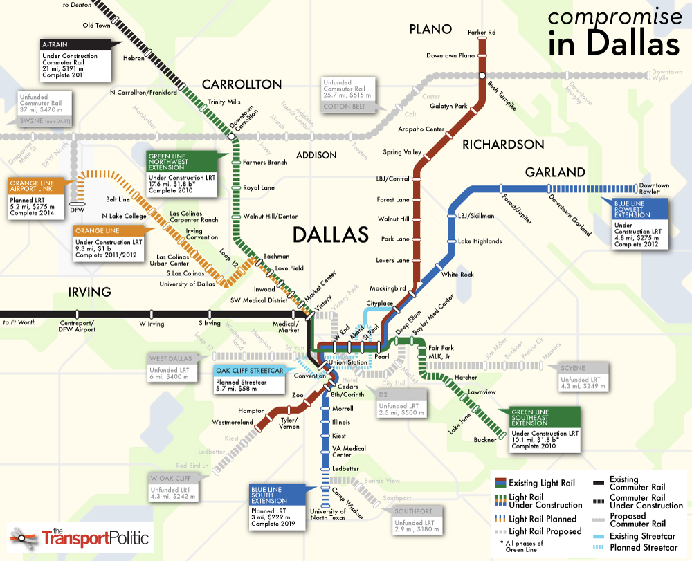 Dallas Compromises, Finding Funds for Some Light Rail Projects « The ...