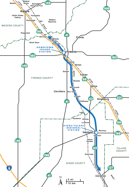Map Of California High Speed Rail.California Planners Recommend Fresno Hanford For First Phase Of