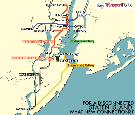 Path Train And Subway Map Combo.A Light Rail Extension For Staten Island The Transport Politic