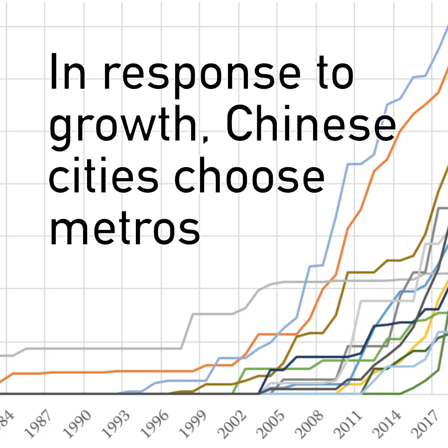 Chinese cities choose metros