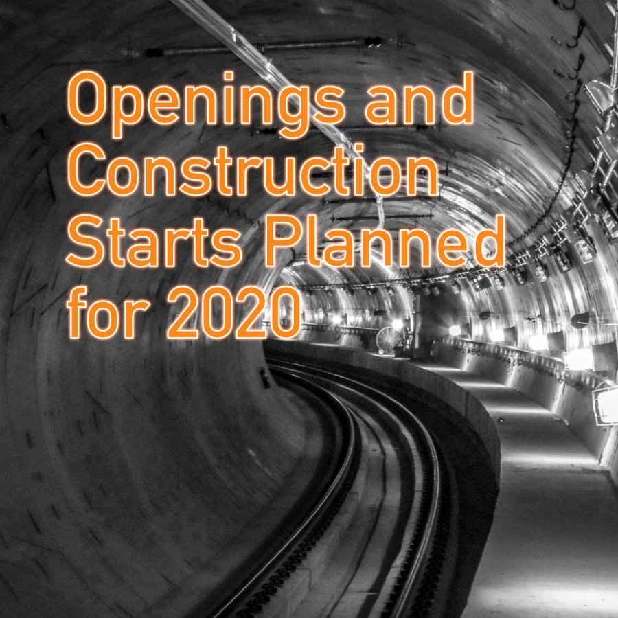 Openings and Construction Starts Planned for 2020