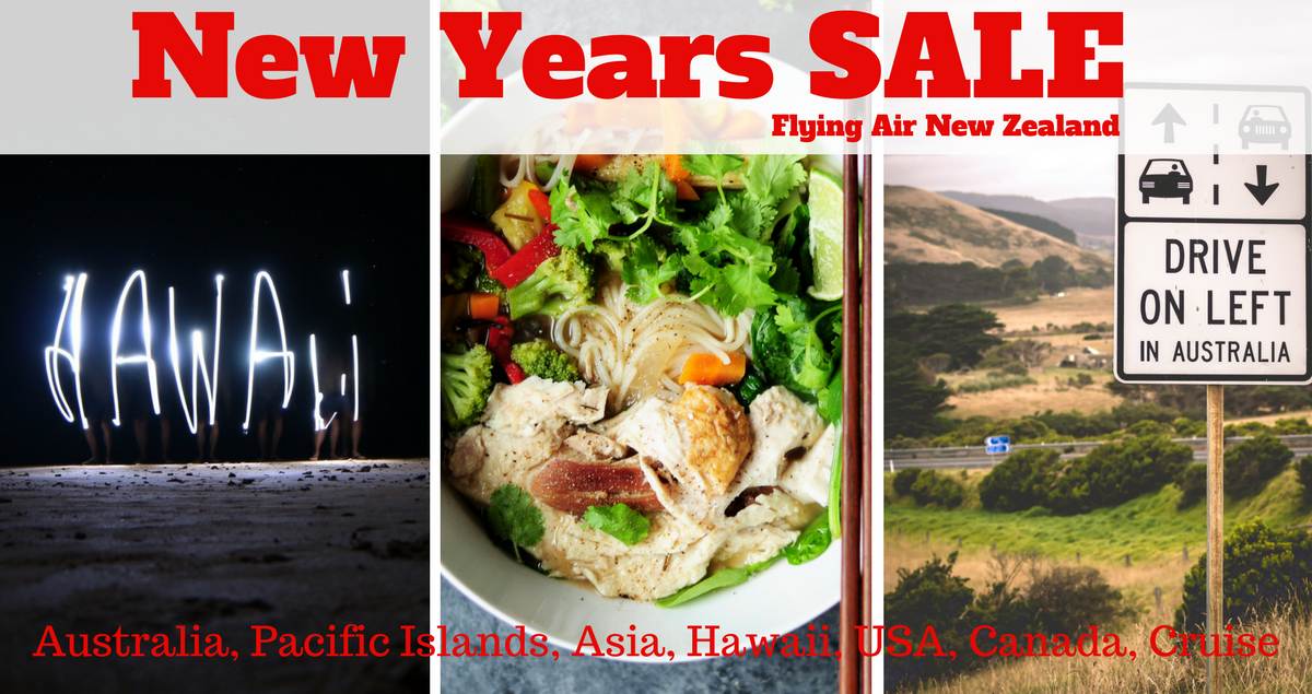 New Years SALE Niue, Fiji, Saigon, Thailand, Australia