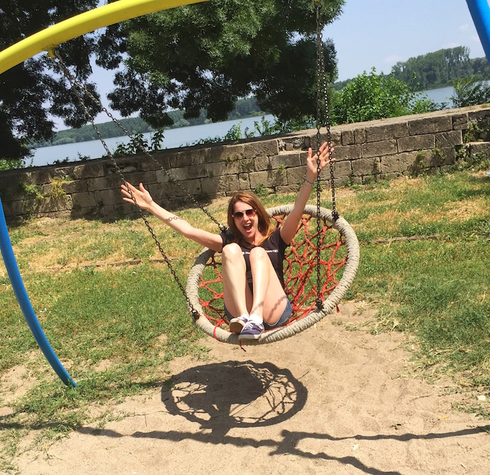 My inner child get some much needed exercise in Vidin!