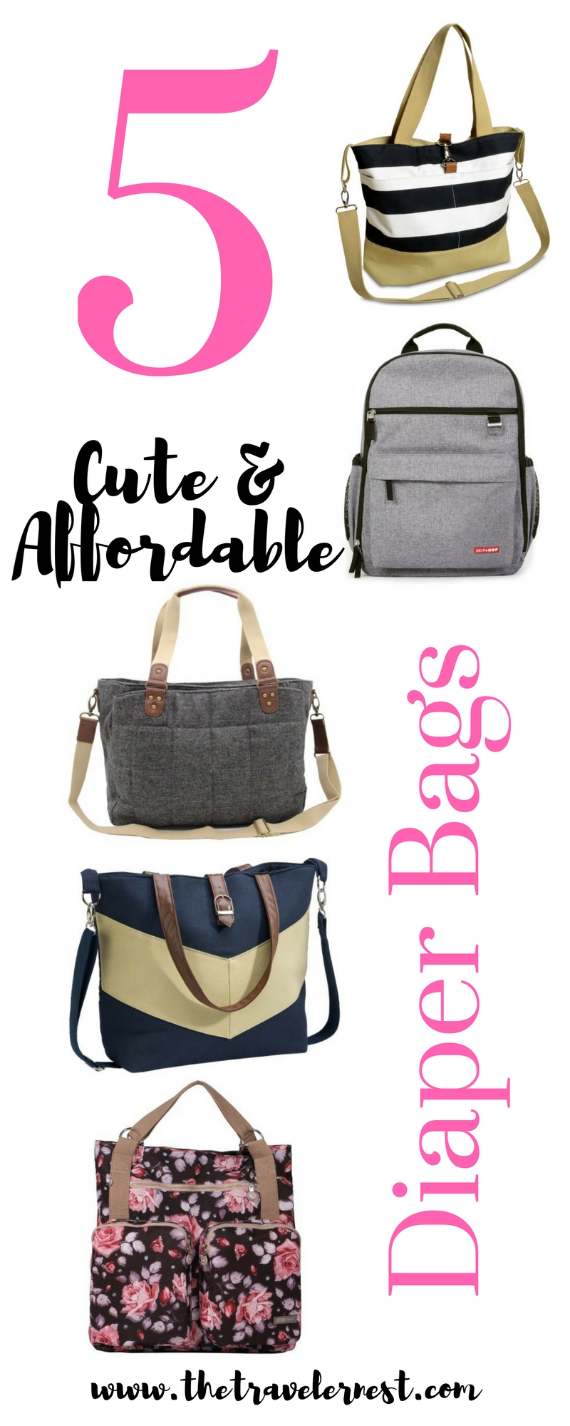 Friday 5: Cute and Affordable Diaper Bags