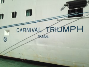 Carnival Triumph sailing out of New Orleans