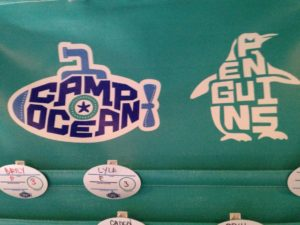 Camp Ocean and Penguins Logo