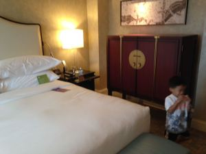 Tyler in the room at the Mandarin Oriental Washington DC