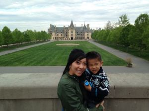 Mom and Tyler at Biltmore Estate