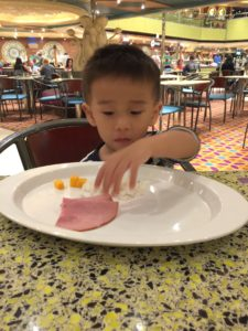 Enjoying myself at the buffet