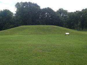 Indian Mound at the Village of the Natchez Indian