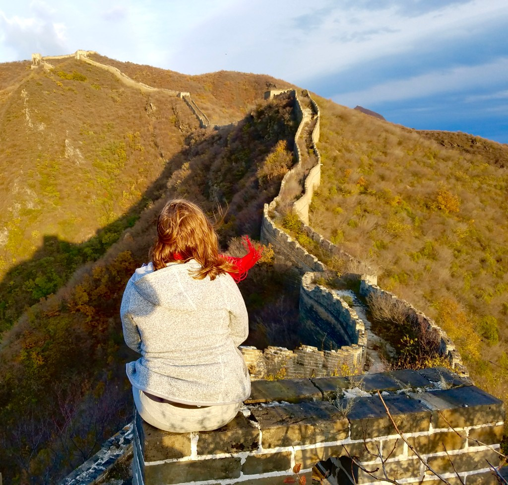 girl on great wall