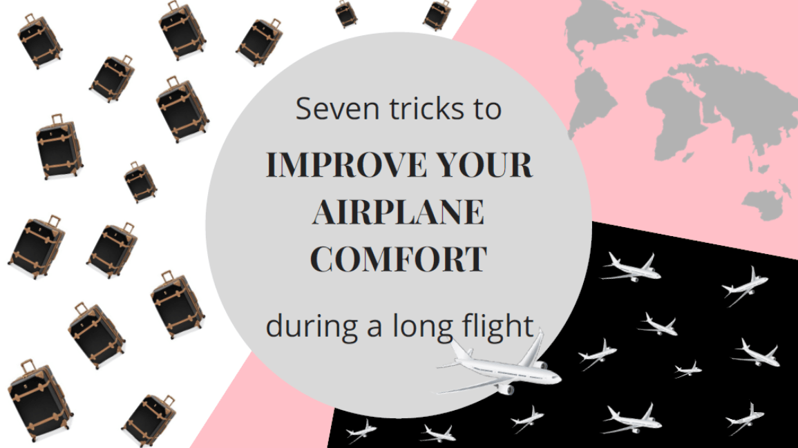 Airplane tips during a long flight
