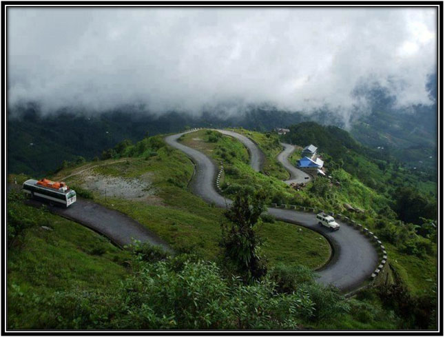 Curvy roads in Kashmir