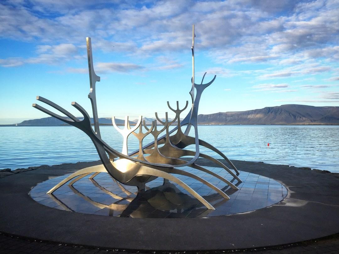 Jón Gunnar Árnason's Sun Voyager sculpture, Reykjavík